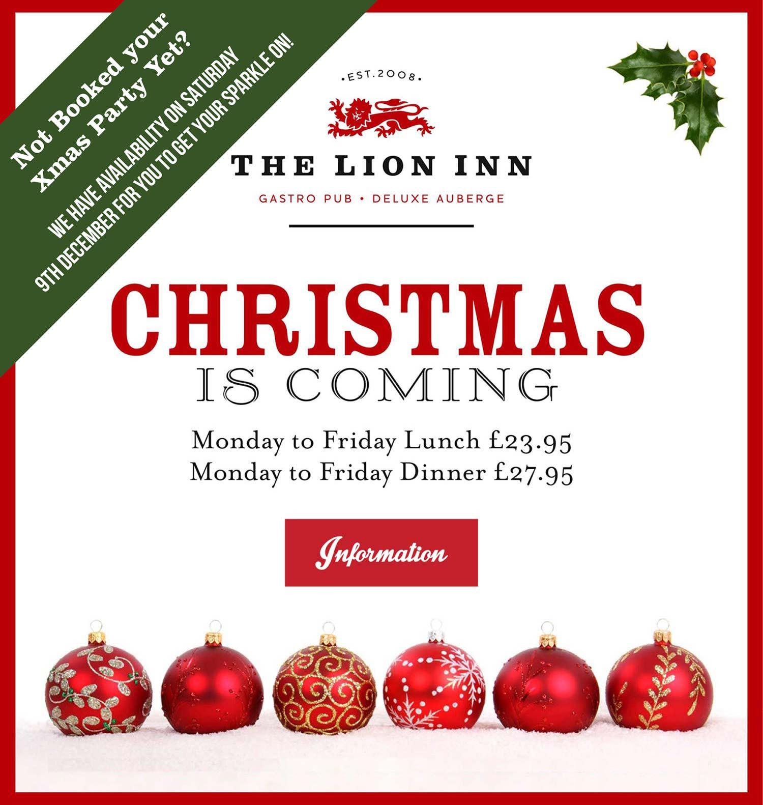 LionInn-ChristmasAvailability